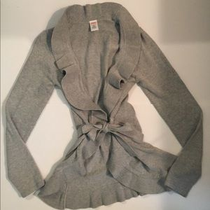 Gymboree Girls Gray Cardigan Size 10-12